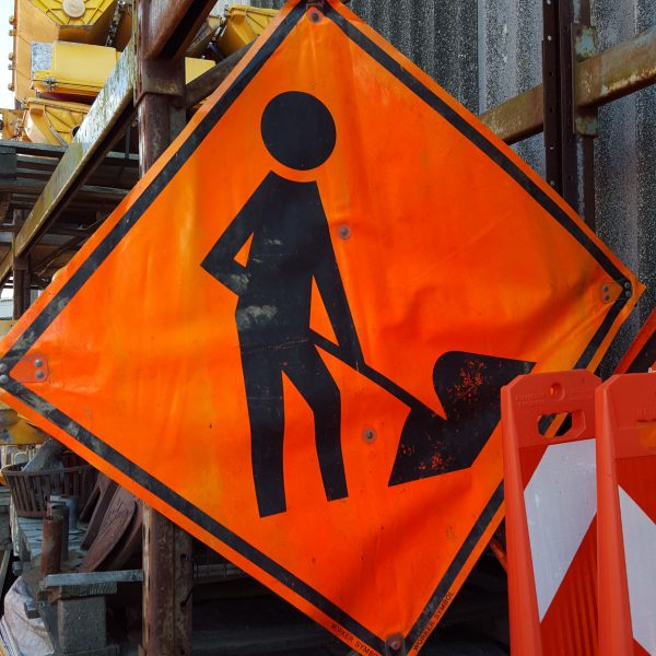 Worker Construction Sign