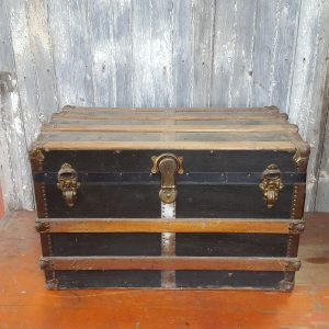 Wooden Banded Travel Trunk
