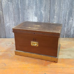 Wooden Chest With Brass Handle