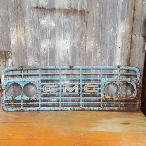 Blue GMC Grille