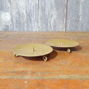 Pair of Gold Candle Holders