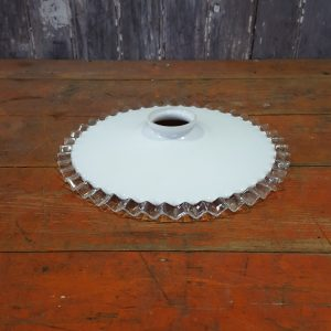 White and Clear Frilly Edge Light Shade