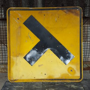 T Junction Yellow Road Sign