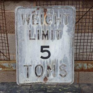 Weight Limit 5 Tons Road Sign