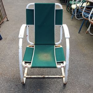 White and Green Garden Chair