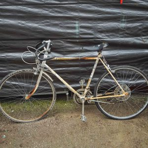 Vintage White Huffy Road Bicycle