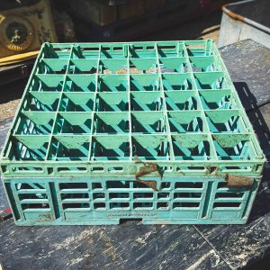 Green Square Bottle Crate