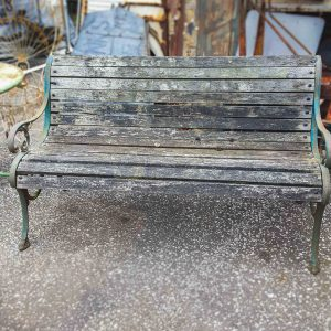 Vintage Wood and Iron Garden Bench
