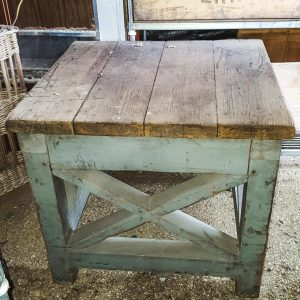 Vintage Chunky Wooden Table
