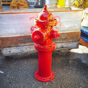Bright Red American Style Fire Hydrant