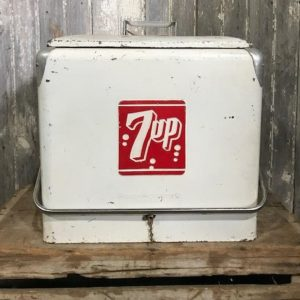 Vintage 7 Up Cool Box