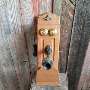 Vintage Hand Crank Wall Telephone
