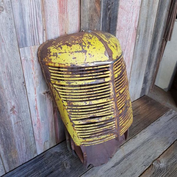 Vintage Yellow Tractor Front