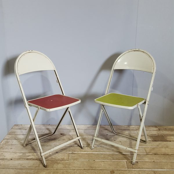 Colourful Metal Folding Chairs