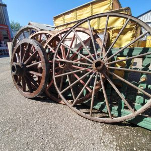 Vintage American Cart Wheels