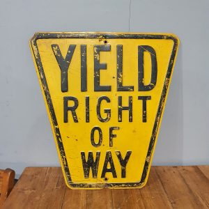 American Yellow Yield Right of Way Road Sign