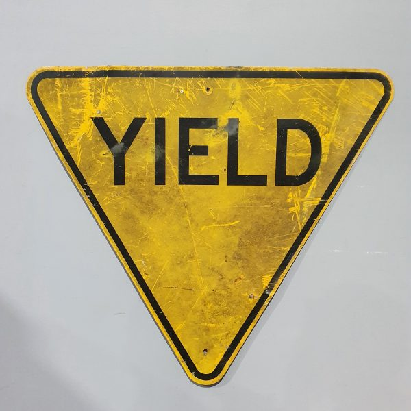 American YIELD Road Sign