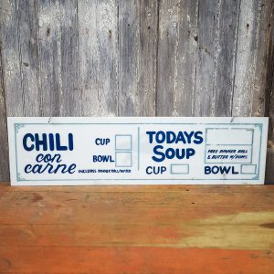 Restaurant Specials Chili and Soup Sign