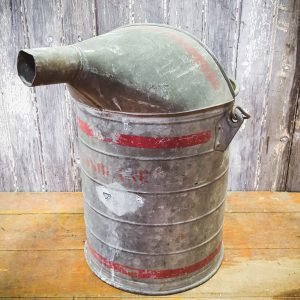 Vintage American Metal Gasoline Can with Spout