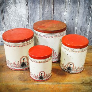 Set of 4 American Decorative Storage Cans