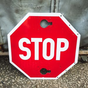 Original American Red Reflective Road Stop Sign