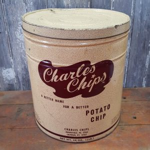 Vintage Charles Chips Can