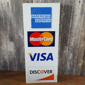 American Card Payment Flange Sign