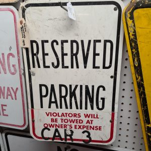 American Reserved Parking Sign