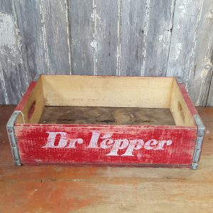 Dr Pepper Wooden Crate