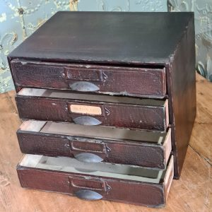 Set of 4 Vintage Paper Tidy Card Drawers