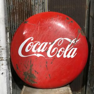 4ft Coca Cola Enamel Button Sign