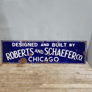 Large Chicago Enamel Advertising Sign