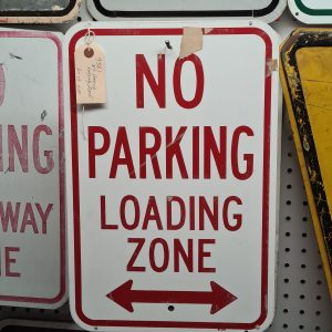 American No Parking Loading Zone Road Sign
