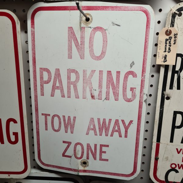 American No Parking Tow Away Zone Road Sign