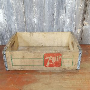 Wooden 7UP Advertisement Crate