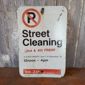 Street Cleaning Metal Sign