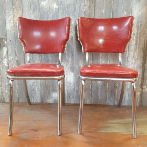 Vintage Red Leather Chairs