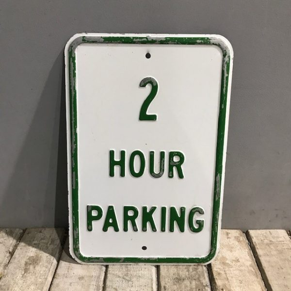 American 2 hour Parking Sign
