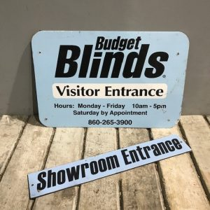 American Blind Business Sign