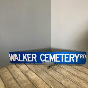American Cemetery Road Sign