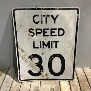 American City Speed Limit Sign