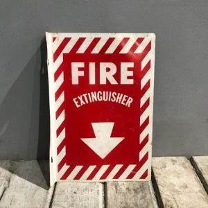 American Fire Extinguisher Flange Sign