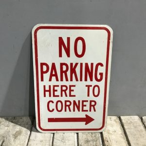 American Parking Street Sign