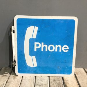 American Pay Phone Flange Sign
