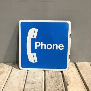 American Pay Phone Flange Sign Small