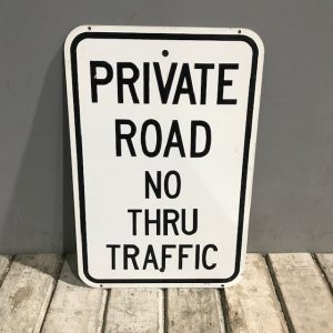 American Private Road Sign