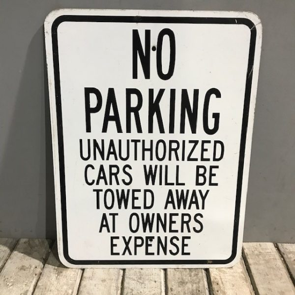 American Street Sign Tow Zone