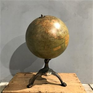Antique Globe On Stand