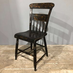 Black & Gold Vintage Painted Chair