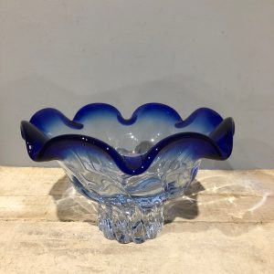 Blue Glass Freeform Bowl